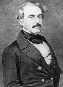 Portrait of Colonel Robert E. Lee in 1850 by Matthew Brady.