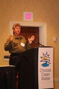 Ivor Van Heerden, former Deputy Director of the Louisiana State University Hurricane Center, addresses the conferees.  Photo by Carolyn Millard.