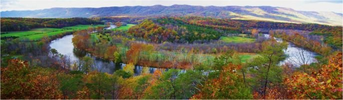 This picture of the Shenandoah River was the conference logo.