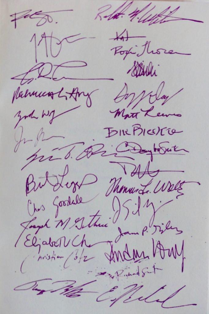 Montpelier Design Congress 2016 participant signatures
