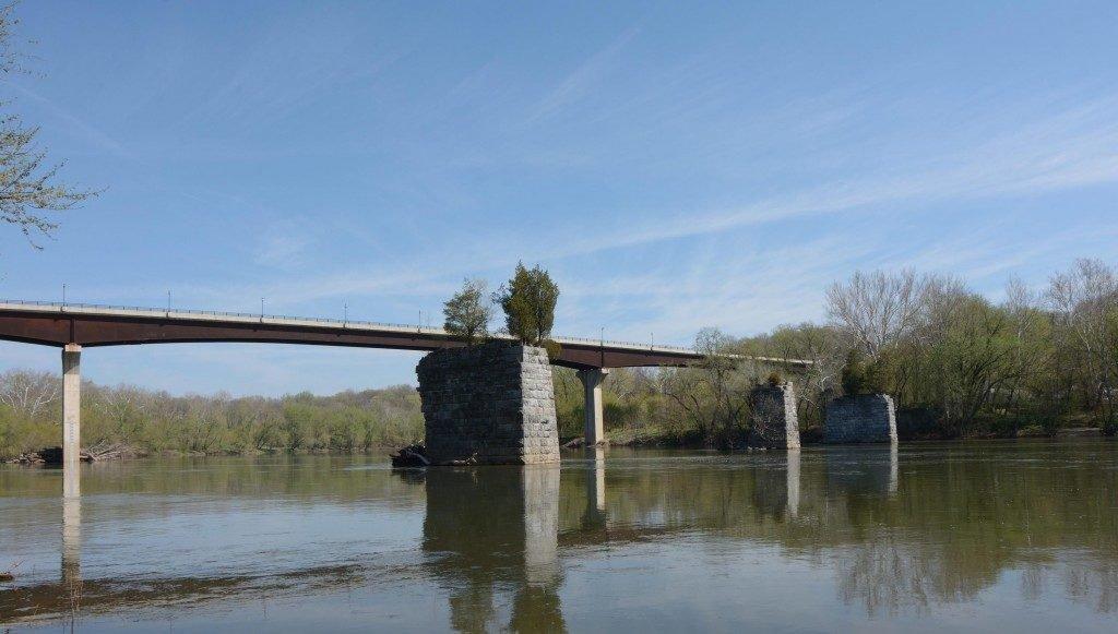 The new bridge over the Potomac.