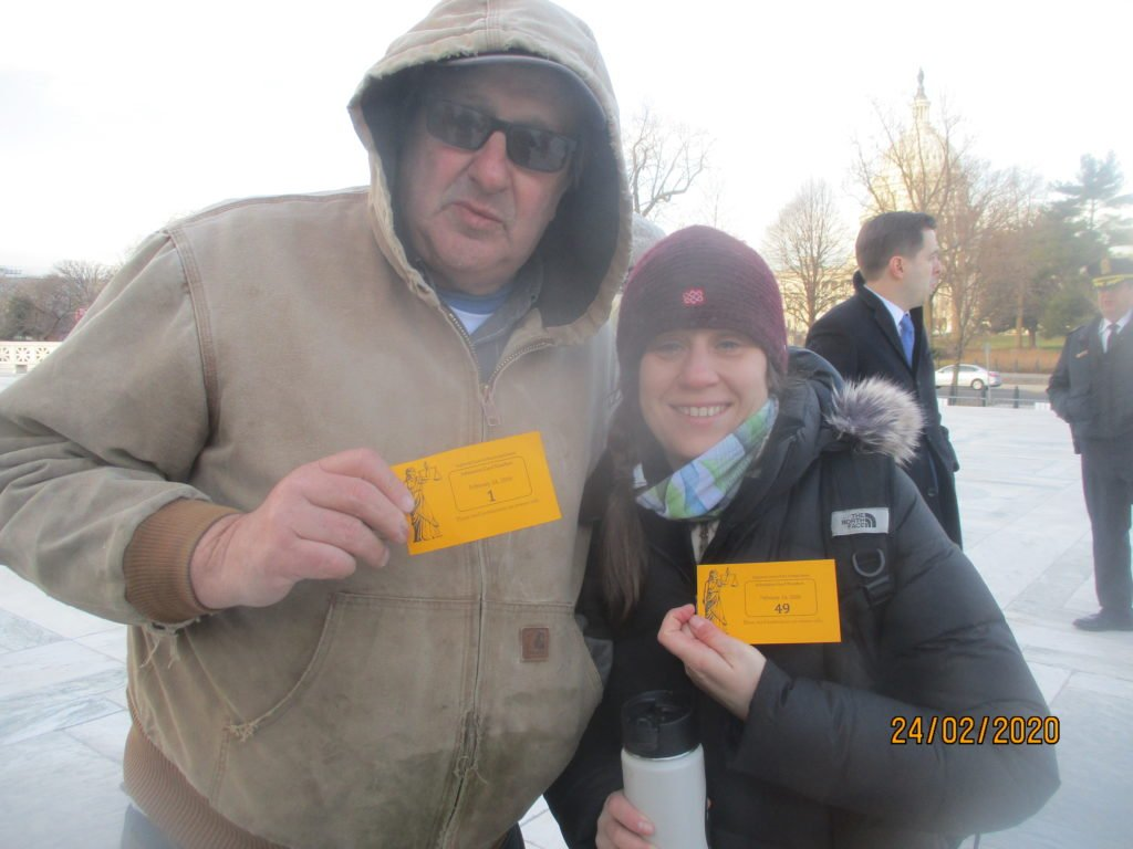 Maury and Laura with their golden tickets.