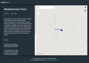 FieldDoc Meadowview Farm Screengrab