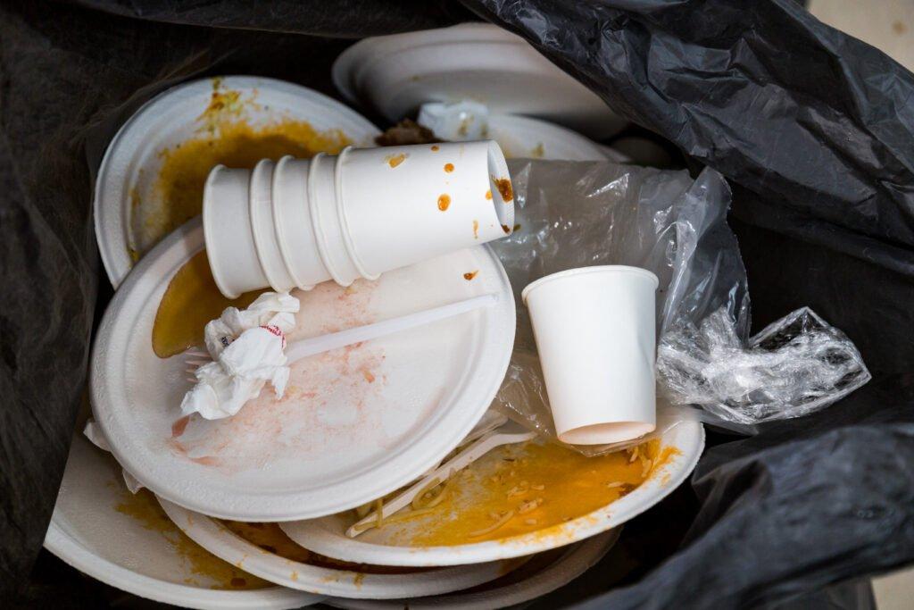 Plastic and Styrofoam pollution