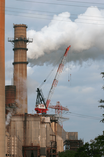 Coal-fired power plant carbon emissions are capped.